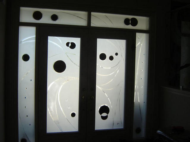 Modern design on front doors