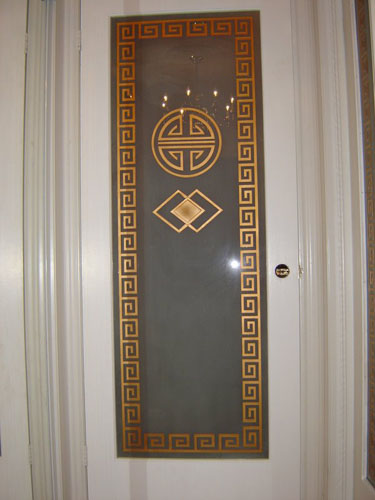 Privacy design on interior door