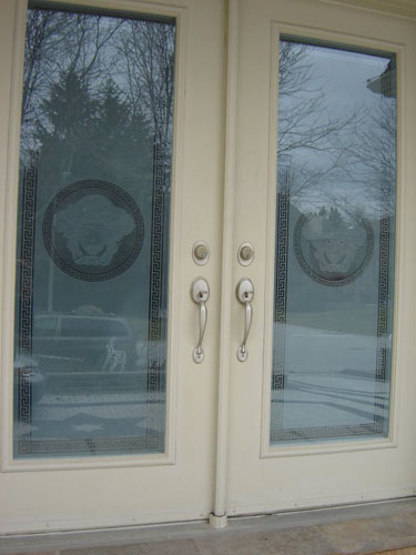 Versace design on front doors